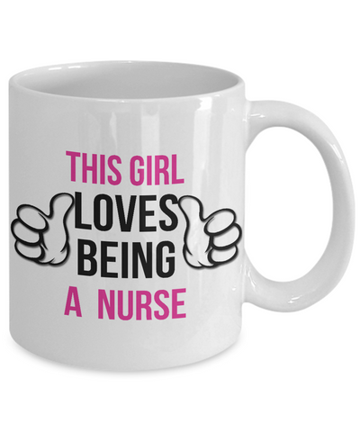 Image of Loves Being Nurse - White - HobnobStore