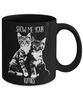 Image of Show Your Kitties-Black Mug-Funny Cat Mug