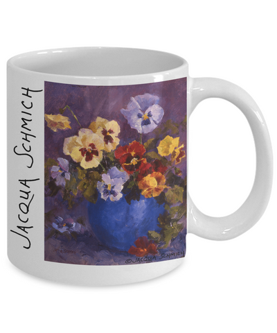 Image of Jacqua Schmich - Pansy Bouquet - Coffee Mug - Hobnob Store