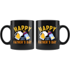 Image of Happy 1st Fathers Day-Black Mug - HobnobStore