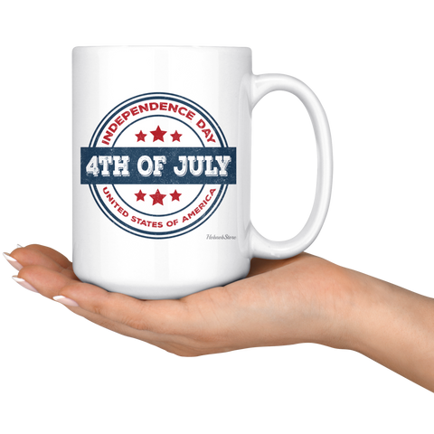 Image of Independence Day 4th of July-White Mug - HobnobStore