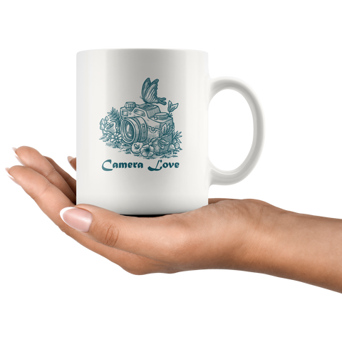 Camera Love Coffee - White Mug - HobnobStore