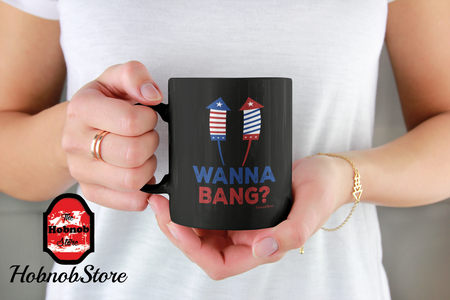 Wanna Bang-Black Mug - HobnobStore