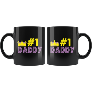 #1 Dad-Black Mug - HobnobStore