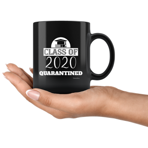 Class Of 2020 Quarantined-Black Mug - HobnobStore