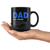 Image of Dad Noun Informal-Black Mug - HobnobStore