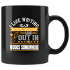 Image of Writing Out In Woods-Black Mug - HobnobStore