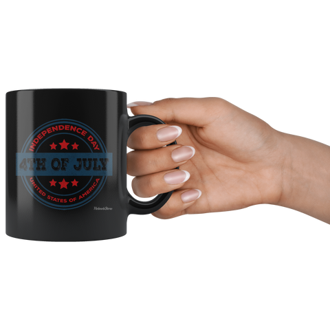 Independence Day 4th of July-Black Mug - HobnobStore