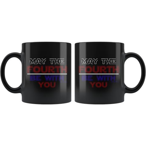 Image of May The Fourth Be With You-Black Mug - HobnobStore