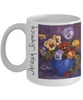 Image of Jacqua Schmich - Pansy Bouquet - Coffee Mug - HobnobStore