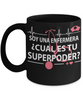 Image of Super Power Nurse-Cual es tu superpoder-Black Mug