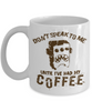 No Speak Until Coffee - HobnobStore