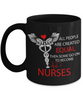 Image of Not Created Equal - Black Mug - HobnobStore