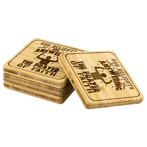 Image of God Delights In Answering The Prayer Of Faith-Square Coaster