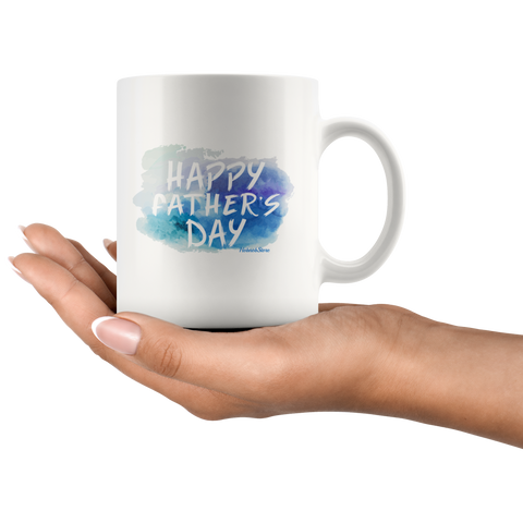 Happy Fathers Day-White Mug - HobnobStore