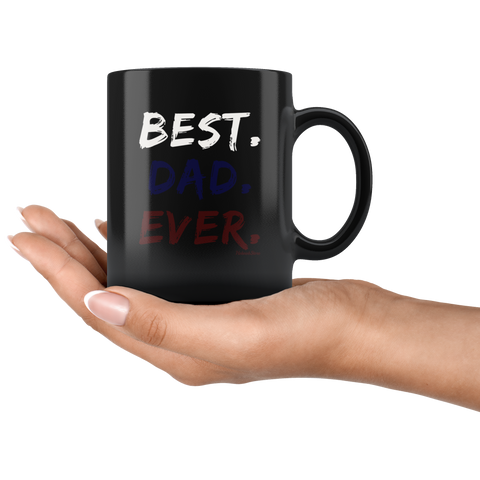 Image of Best Dad Ever-Black Mug - HobnobStore