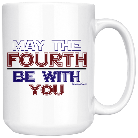 May The Fourth Be With You-White Mug - HobnobStore