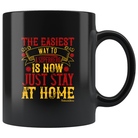 Image of Way To Superhero Stay Home-Black Mug - HobnobStore
