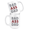 Image of Bad Ass Dad-White Mug - HobnobStore