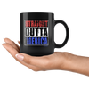 Image of Straight Outta America-Black Mug - HobnobStore