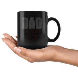 Dad No Matter What-Black Mug - HobnobStore