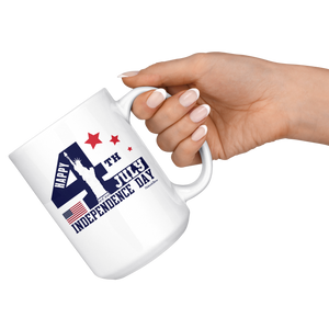 Happy 4th July Independence Day-White Mug - HobnobStore