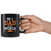Image of No 1 Dad In The World-Black Mug - HobnobStore