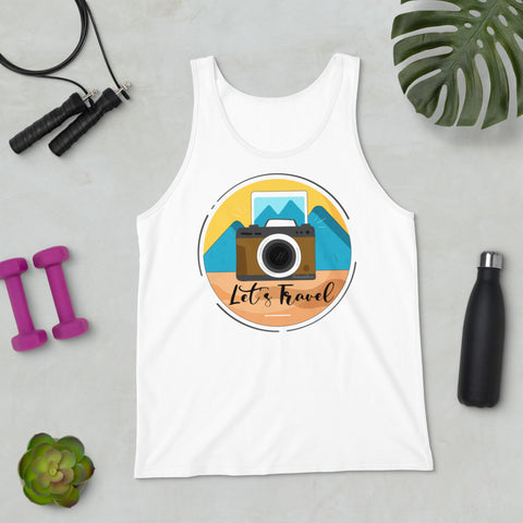 Lets Travel Tank Top - HobnobStore