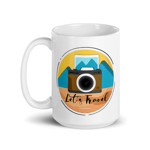 Lets Travel Coffee Mug - HobnobStore