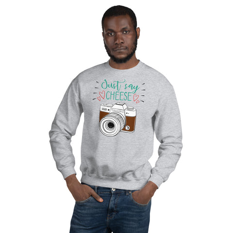 Just Say Cheese Sweatshirt - Hobnob Store