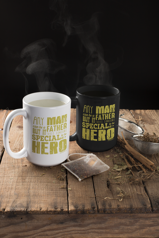 Image of Any Man Can Be a Father-White Mug - HobnobStore