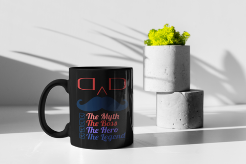 Image of Dad The Myth-Black Mug - HobnobStore