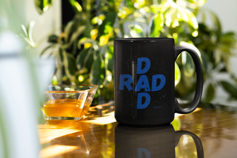 Rad Dad-Black Mug - HobnobStore