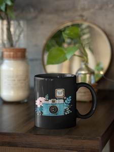 Flash Camera - Black Mug - HobnobStore