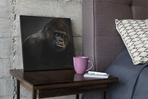 Gorilla Portrait Canvas-Free Shipping