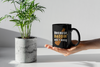 Image of Because Daddin Aint Easy-Black Mug - HobnobStore