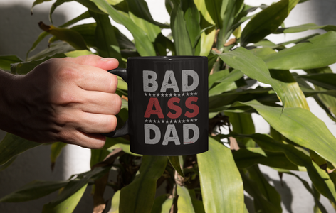 Bad Ass Dad-Black Mug - HobnobStore