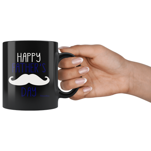 Happy Fathers Day1-Black Mug - HobnobStore
