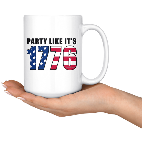 Party Like its 1776-White Mug - HobnobStore