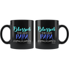 Image of Blessed To Be Called Papa-Black Mug - HobnobStore