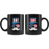 Image of Uncle Sam Face-Black Mug - HobnobStore