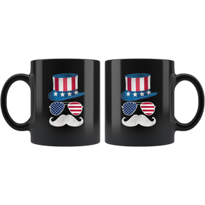 Uncle Sam Face-Black Mug - HobnobStore