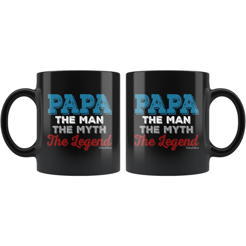 Papa The Man The Myth-Black Mug - HobnobStore