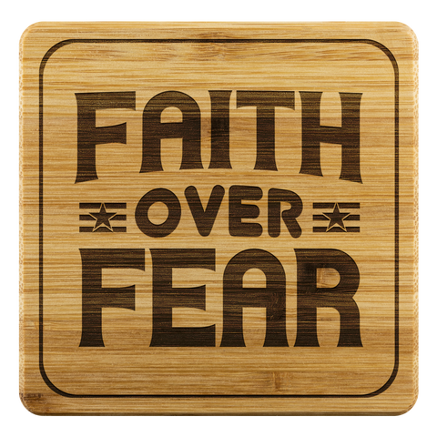Image of Faith Over Fear-Square Coaster