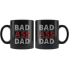 Image of Bad Ass Dad-Black Mug - HobnobStore