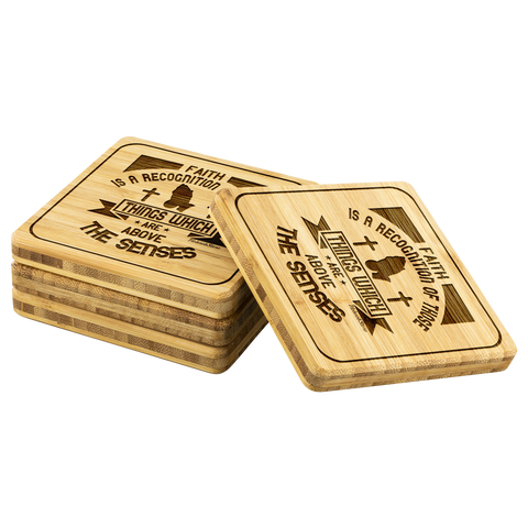 Image of Faith Is A Recognition Of Those Things Which Are Above The Senses-Square Coaster