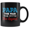 Image of Papa The Man The Myth-Black Mug - HobnobStore