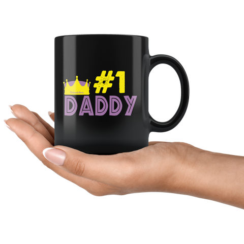 Image of #1 Dad-Black Mug - HobnobStore