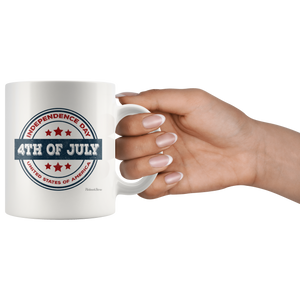 Independence Day 4th of July-White Mug - HobnobStore