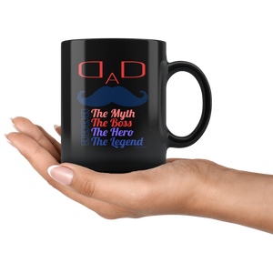 Dad The Myth-Black Mug - HobnobStore